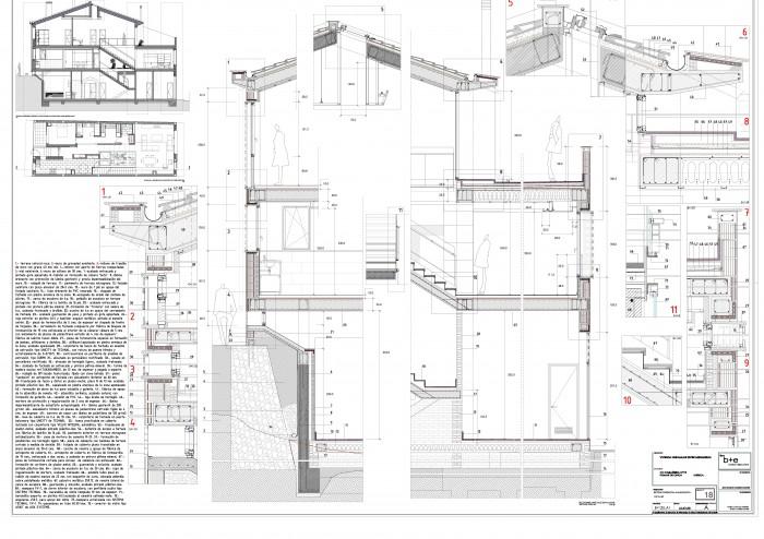 Abla arquitectura proyectos obras realizadas - Vivienda unifamiliar entre medianeras ...